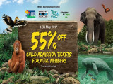 55% Off Admission Tickets in Wildlife Reserves Singapore with NTUC Card