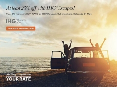 Enjoy Atleast 25% Off on your Escape with IHG Intercontinental Hotels