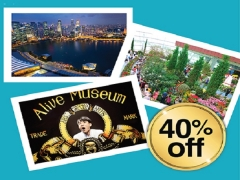 Best 3 Combo with Alive Museum, Marina Bay Sands Skypark & Gardens by the Bay at 40% Off