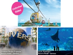 Triple Attractions Package with Singapore Cable Car from SGD122