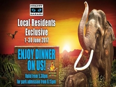 Local Residents Exclusive: Enjoy Dinner During your Night Safari Exploration