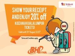 20% Off KidZania Kuala Lumpur Tickets with BH Petrol