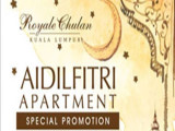 15% Savings in The Royale Chulan Kuala Lumpur with Hari Raya Aidilfitri Apartment Special Promotion