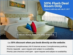 Room Only - Enjoy 30% Savings in Royale Chulan Damansara