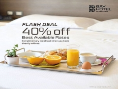 FLASH DEAL | 40% Off Best Available Rate in Bay Hotel Singapore