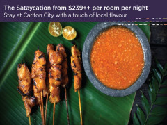 The Sataycation from SGD239++ in Carlton City Singapore