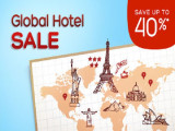 Enjoy 40% Off Global Hotels Sale with Hotels.com