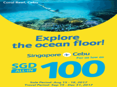 Fly to Philippines with Cebu Pacific from SGD100