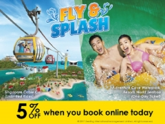 Save Up to 15% As you Fly & Splash with Singapore Cable Car and Adventure Cove Waterpark