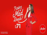 7 Days of Mad Deals from SGD71 in AirAsia until 27 Aug 2017!