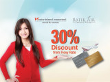 Special 30% OFF of Best Flexible Rate in Swiss-belhotel only for Batik Air Frequent Flyer!