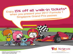 15% Off Walk-in Tickets to KidZania with Singapore Grand Prix Passes