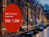 Fly to Europe with SWISS Airlines from SGD1,264