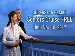 Seniors Cruise FREE* with SuperStar Gemini in Star Cruises