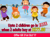 Up to 2 Children Go FREE in Sentosa 4D AdventureLand this October