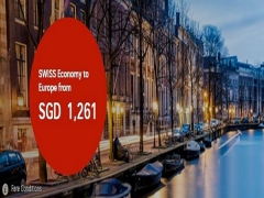 Fly to Europe with SWISS Airlines from SGD1,261
