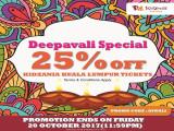Deepavali Special Offer in KidZania Kuala Lumpur at 25% Savings