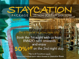 Staycation Package in G Tower Hotel Kuala Lumpur with 50% Savings on 2nd Night Stay