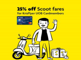 Enjoy 25% Off Scoot Fares Exclusive for Krisflyer UOB Cardholders
