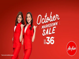 October Mark Down Sale in Airasia with Flights from SGD36