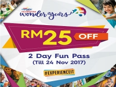 2 Day FUN Pass with RM25 Savings in Sunway Lagoon
