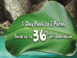 Land of Giants 1 Day Pass Up to 36% Savings off 2-Park Combo for Singapore Zoo and River Safari