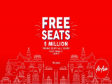 5 Million FREE Seats are Up for Grabs in AirAsia this Week!