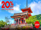Enjoy 20% off flights in AirAsia to over 70 destinations Exclusively for OCBC Cardmembers