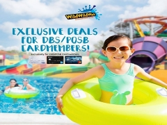 Exclusive of up to 15% Savings in Wild Wld Wet in D'Resort @ Downtown East with DBS/POSB