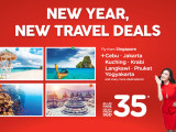 New Year. New Travel Deals from SGD35 in AirAsia