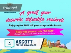Ascott x Capistar Year-End Promotion with Up to 40% Off Best Available Rate