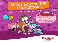 After School Fun Promotion in KidZania Singapore from SGD36