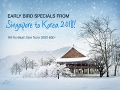 Early Birds Special to Korea with Asiana Airlines from SGD650