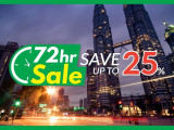 72 Hour Sale with Up to 25% Savings in Malaysia Hotels with Compass Hospitality