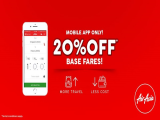 20% Off Flights Booked with AirAsia Mobile App