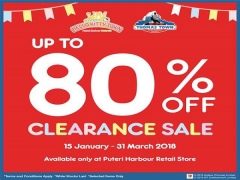 Up to 80% Clearance Sale for Admission Tickets in Puteri Harbour