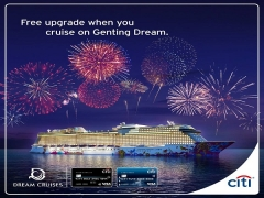 Free Upgrade to Balcony when you Cruise with Genting Dream and Citibank