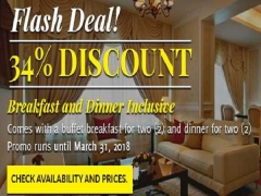 Flash Deal - Breakfast & Dinner Inclusive with 34% Off in Royale Chulan Damansara