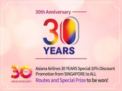 Celebrate 30 Years of Flying with Asiana Airlines with 10% Savings