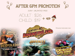 After 6PM Promotion in Sentosa 4D AdventureLand from SGD26