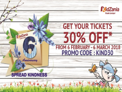 KidZania Kuala Lumpur Admission Tickets at 30% Off