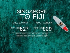 Fly to Nadi from SGD 839 with Fiji Airways for travel  till November 2018!