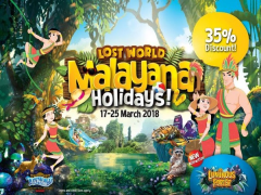 Malayana Holidays in Sunway Lost World of Tambun with Up to 35% Savings