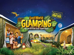 Glamping Experience in Sunway Lost World of Tambun from RM588