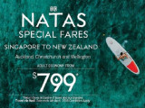 NATAS Special | Fly to New Zealand from SGD799 with Fiji Airways