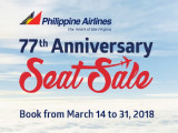 77th Anniversary Sale in Philippine Airlines with Flights from SGD218