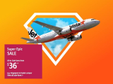 Super Epic Sale in Jetstar from SGD36 for your Next Getaway