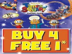 Buy 4 FREE 1 Offer in Berjaya Times Square Themepark