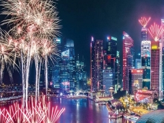 2019 New Year Countdown in Marina Mandarin Singapore