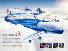 Enjoy up to 10% Exclusive Discount at China Southern Airlines using ICBC Credit Cards